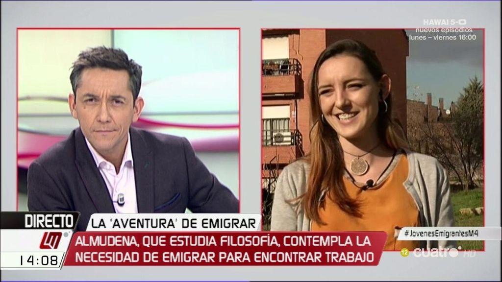 "Almudena, estudiante de filosofía: ""No nos queremos ir, nos estáis echando"""