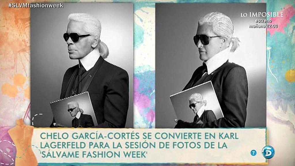 Chelo se convierte en uno de los hombres más importantes de la moda: Karl Lagerfeld