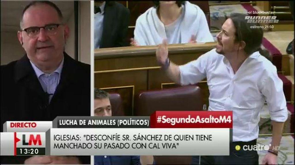 """Losada: """"Si Iglesias tuviera argumentos más sólidos no habría tenido que recurrir ni a Felipe González ni a la cal viva"""""""