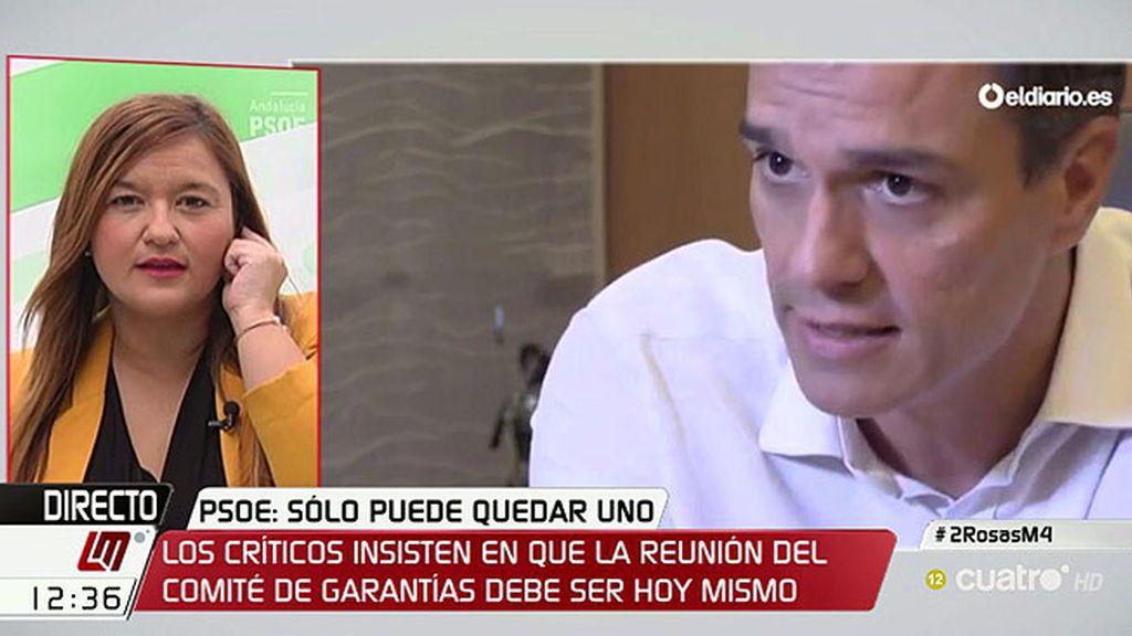 """Verónica Pérez: """"Atrincherarse en el poder no está a la altura del Partido Socialista"""""""