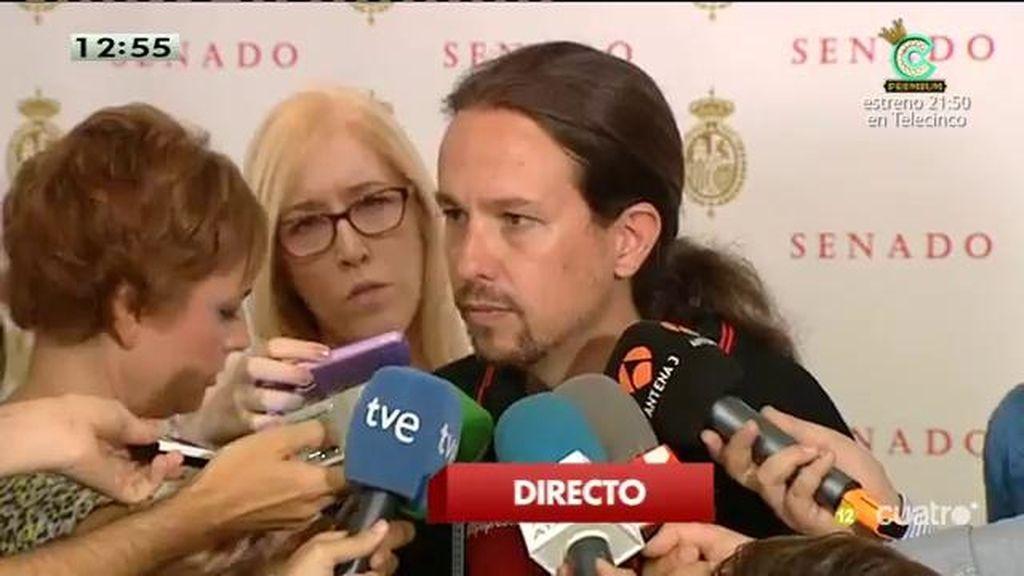 """Pablo Iglesias: """"Si hablamos de la estructura territorial del Estado, nosotros pensamos que hay que apostar por la hermandad"""""""