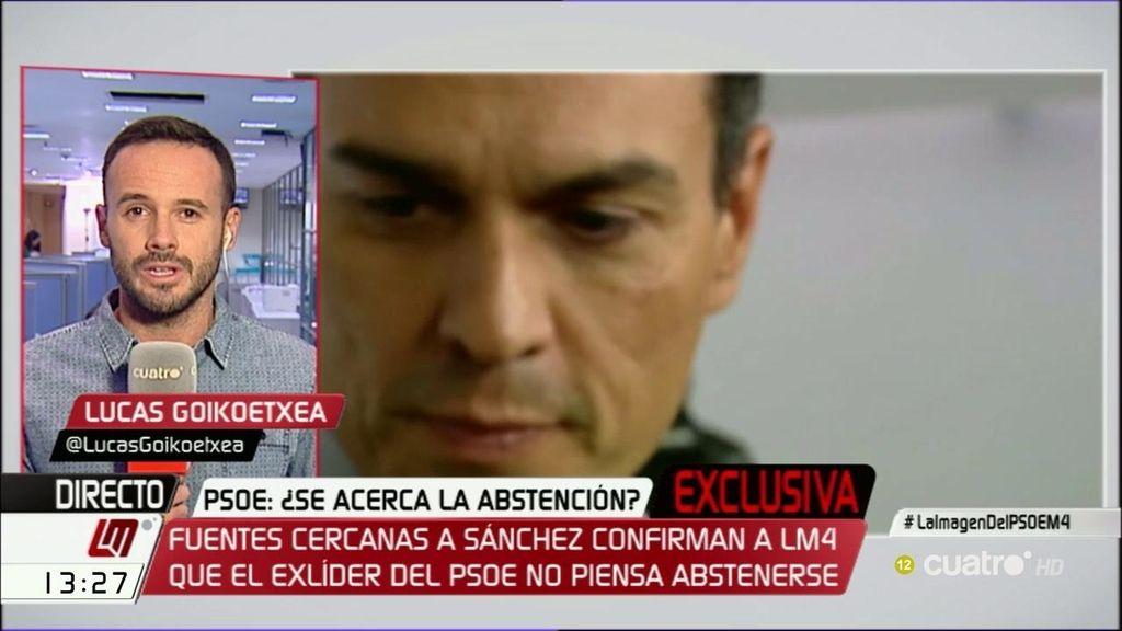 Pedro Sánchez votaría 'no' ante una hipotética abstención del PSOE en la investidura de Rajoy