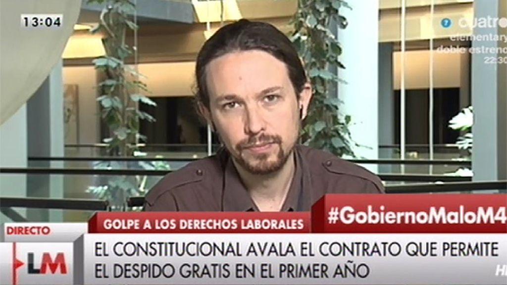 """P. Iglesias: """"La clave para solucionar el paro es acabar con el 'austericidio"""""""