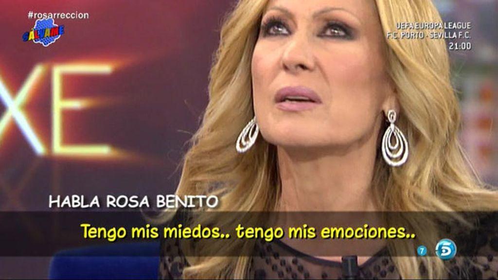 """Rosa Benito, antes de su reaparición: """"Tengo mis miedos pero quiero vivirlo a tope"""""""