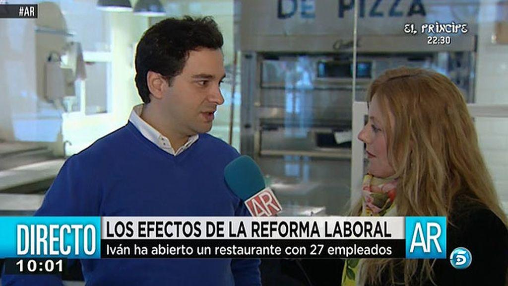 Iván ha abierto un restaurante con 27 empleados
