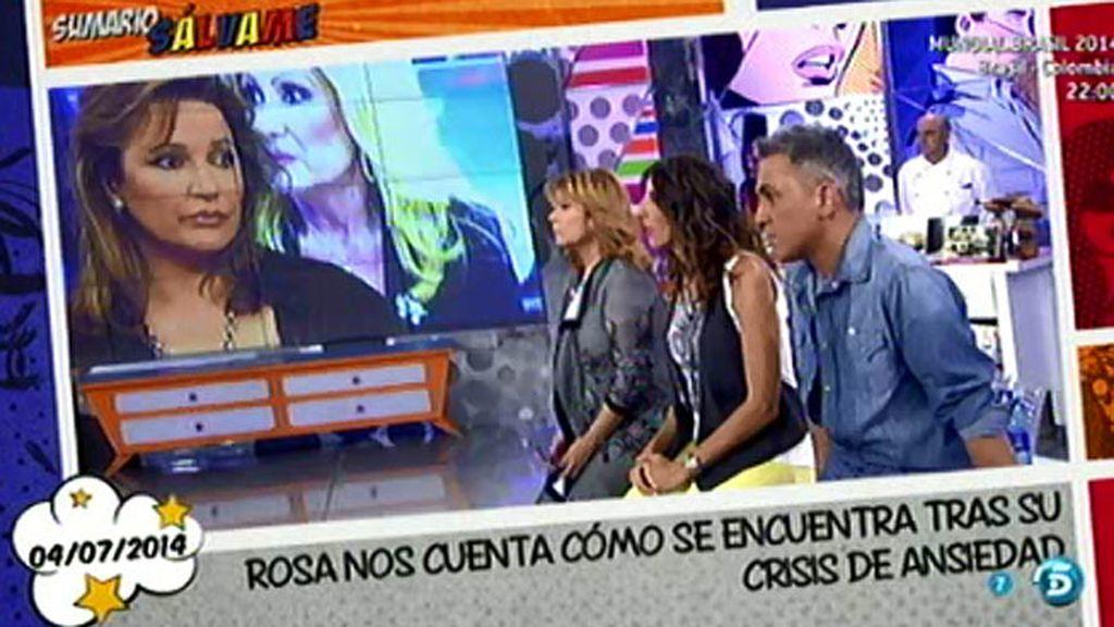 Los colaboradores no dudan del ataque de ansiedad de Rosa Benito