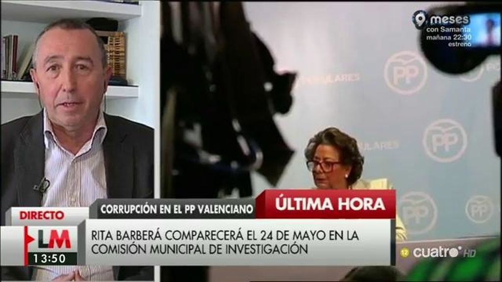 """Baldoví, de Barberá: """"Esperaría que hiciera otra espantada como hizo en las cortes valencianas"""""""