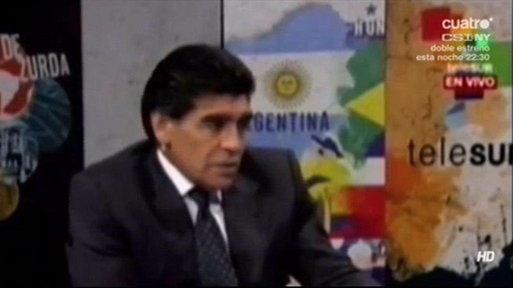 """Maradona: """"A Messi le regalaría el cielo"""""""