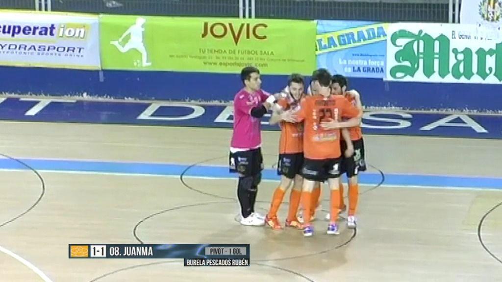 Burela consigue la séptima plaza en los play off tras ganar al Marfil (1-2)