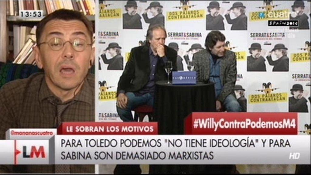 """Monedero, sobre las críticas de Sabina: """"Cada uno tiene que hacer lo que sabe"""""""