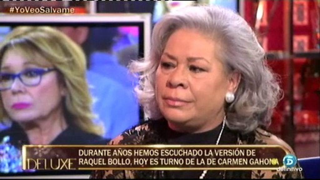 """Carmen Gahona: """"El problema de Raquel es que sigue enamorada de 'Chiquetete"""""""