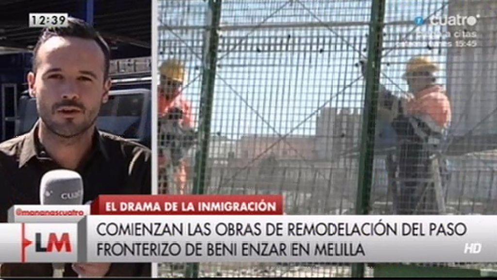 Comienza el refuerzo de la frontera en Melilla