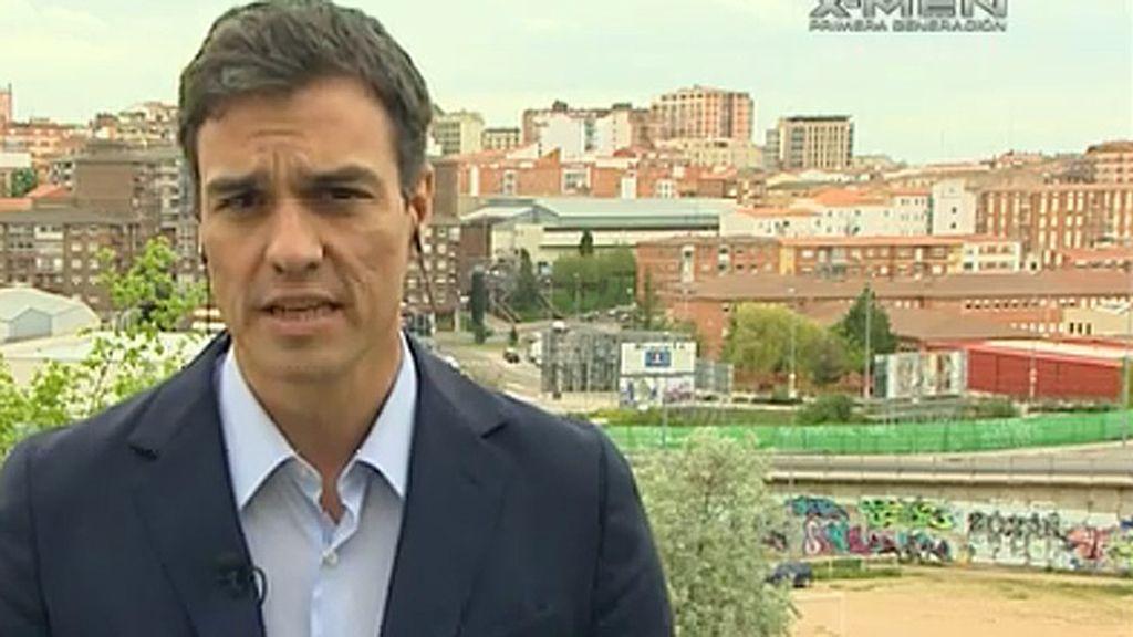 """Pedro Sánchez: """"El Partido Popular es incapaz de regenerar España"""""""