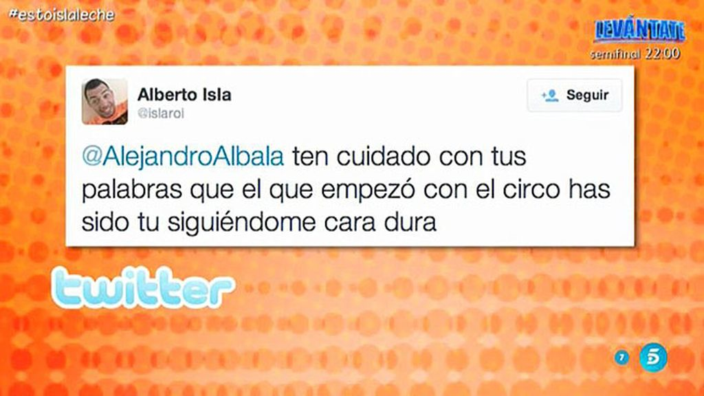 Alejandro Albalá y Alberto Isla protagonizan un desencuentro en Twitter