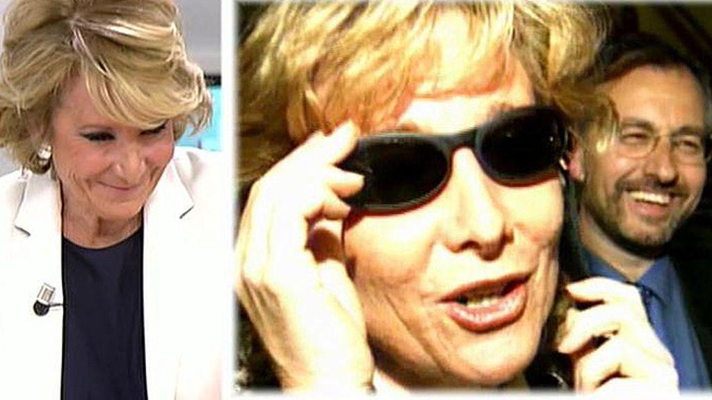 Recordamos las apariciones de Esperanza Aguirre en 'Caiga quien caiga'