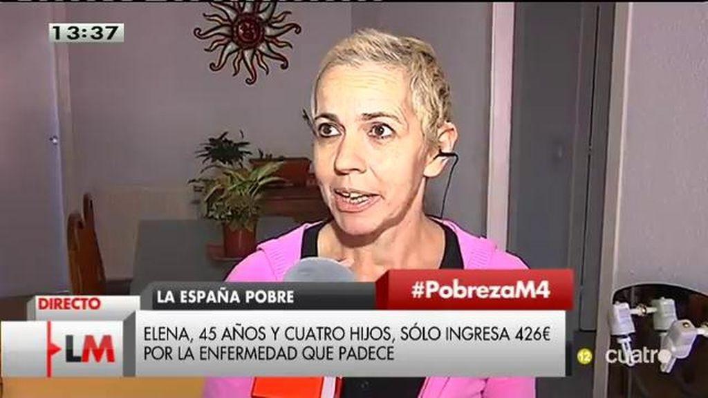 Elena, con 4 niños a su cargo, sólo ingresa 426 euros