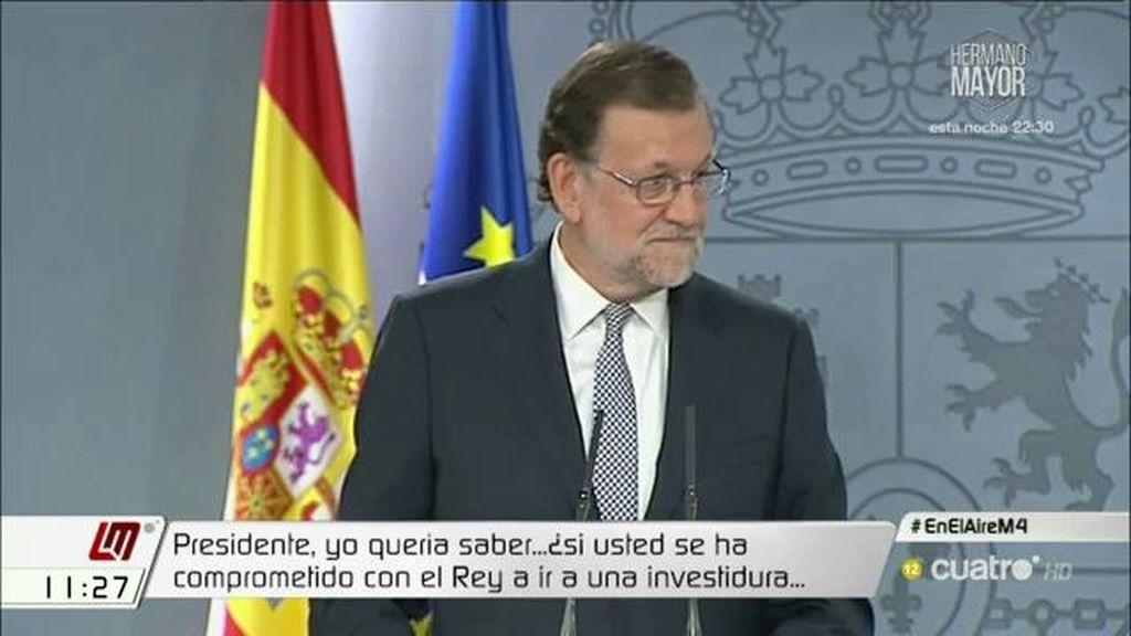 Rajoy elude hasta en cinco ocasiones aclarar si irá a la investidura