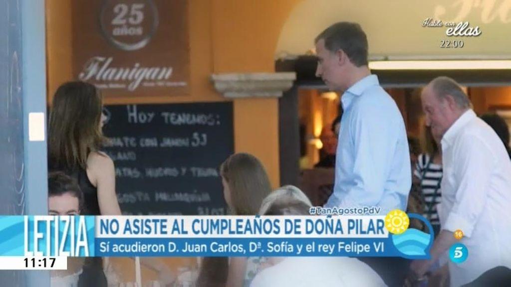 La familia real se reúne en Mallorca por el cumpleaños de Doña Pilar