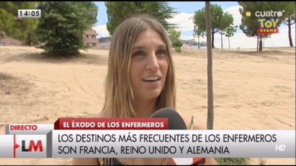 """Cristina, enfermera: """"Me gustaría trabajar en España, pero las condiciones son precarias"""""""