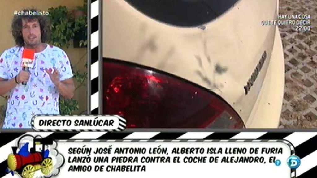¿Tiró Alberto Isla una piedra al coche del amigo de Chabelita?