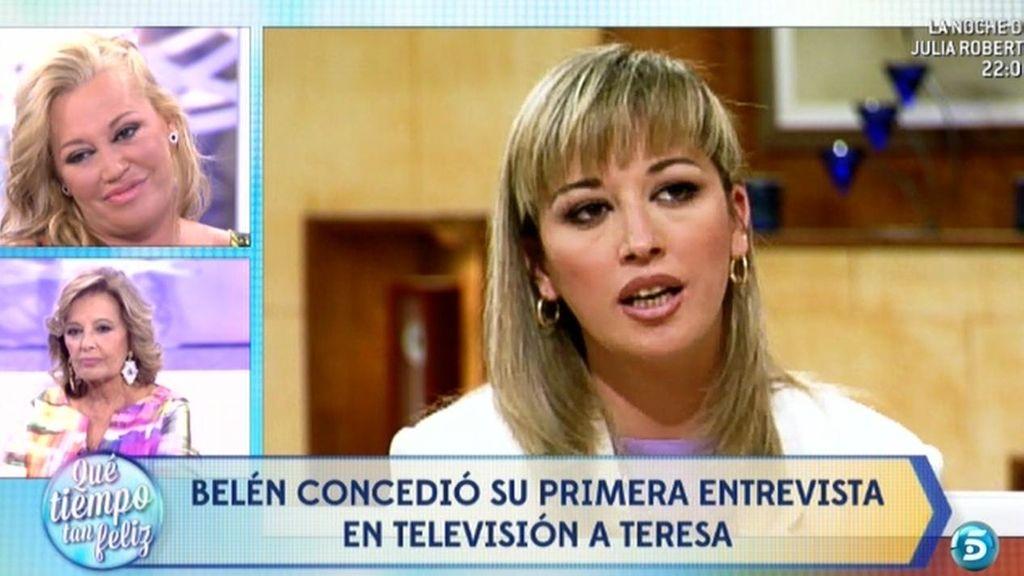 La primera entrevista de Belén Esteban en la televisión con María Teresa Campos