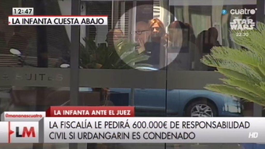 La Fiscalía podría pedir 600.000 de responsabilidad civil a la Infanta