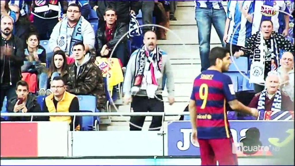 Luis Suárez encendió a la afición y los pericos respondieron con todo tipo de insultos
