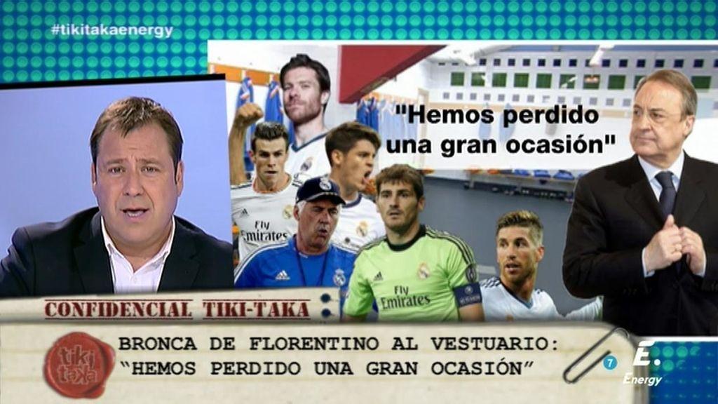 """Florentino Pérez, al vestuario del Madrid en Vigo: """"Así no ganamos a nadie"""""""
