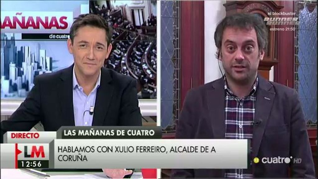 """Xulio Ferreiro: """"Pedro Sánchez ha mirado al lado incorrecto del hemiciclo"""""""