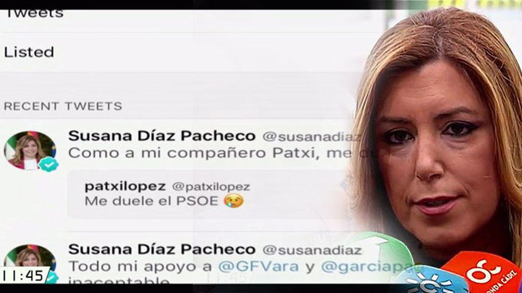 ¿A quién va dirigido el último mensaje en redes sociales de Susana Díaz?