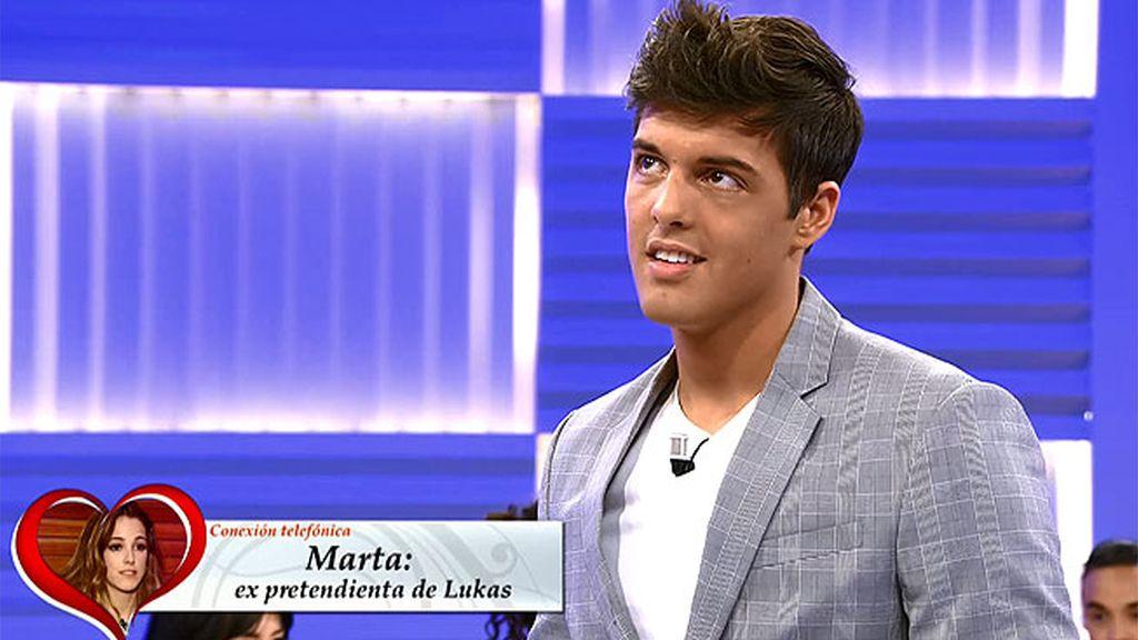 Marta tiene una confidencia de Lukas que no quiere contar para no perjudicarle