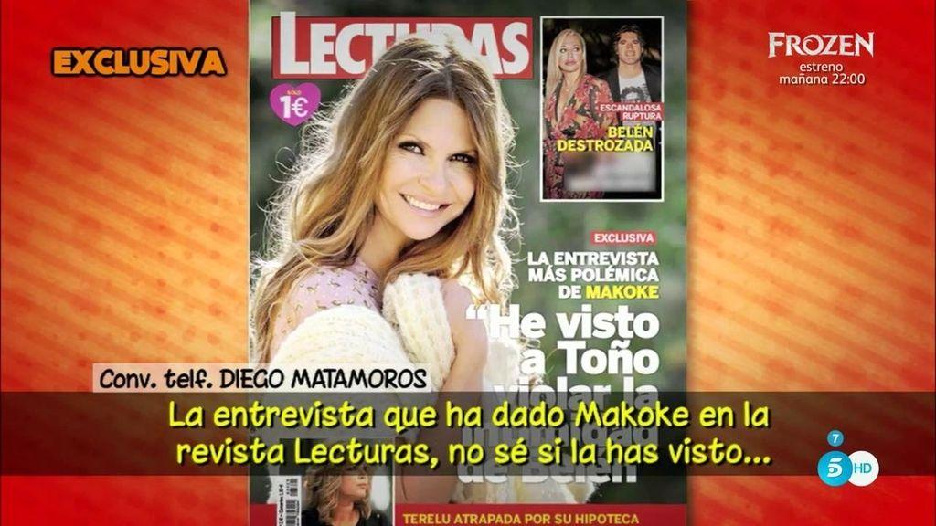 """Diego Matamoros, sobre Makoke: """"La primera en decir barbaridades de Belén es ella"""""""
