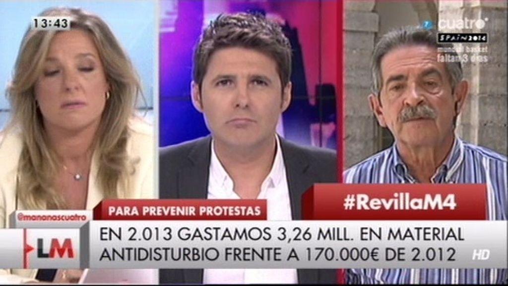 """Revilla: """"Nunca he visto un yihadista en Cantabria, pero sí a muchos parados"""""""