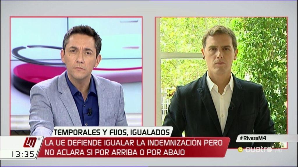 """Albert Rivera: """"Proponemos un contrato estable, único y la sentencia del Tribunal Europeo nos acerca más a ese modelo"""""""