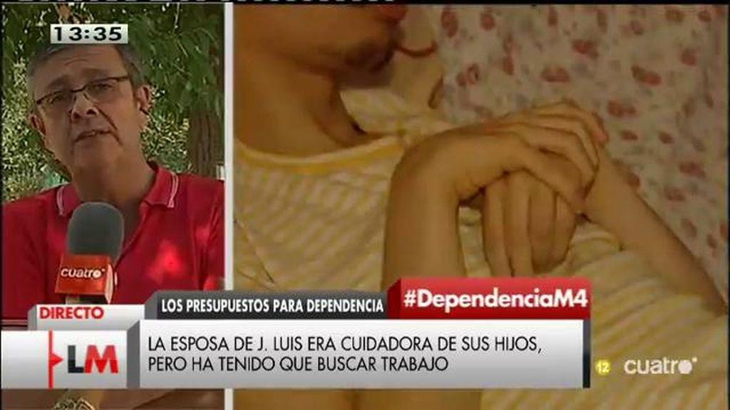 """J.L. Gómez Ocaña: """"No hay voluntad política de cumplir con la atención a personas dependientes"""""""