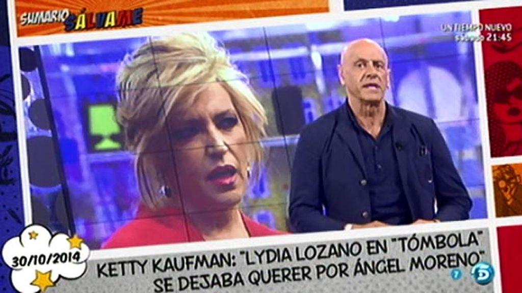 Lydia Lozano se queda con la boca abierta tras las declaraciones de Ketty Kaufman