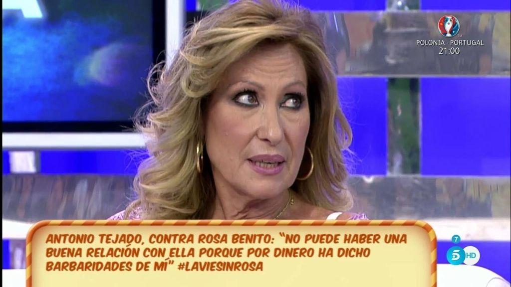 """Rosa Benito, ajena a las declaraciones de Antonio Tejado: """"Ahora mismo estoy en un momento muy bueno"""""""