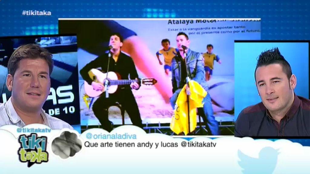 """Andy y Lucas: """"Haber cantado el himno del Cádiz se nos ha quedado para toda la vida"""""""