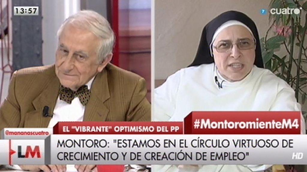Inocencio Arias acepta la invitación de Sor Lucía para visitar su banco de alimentos