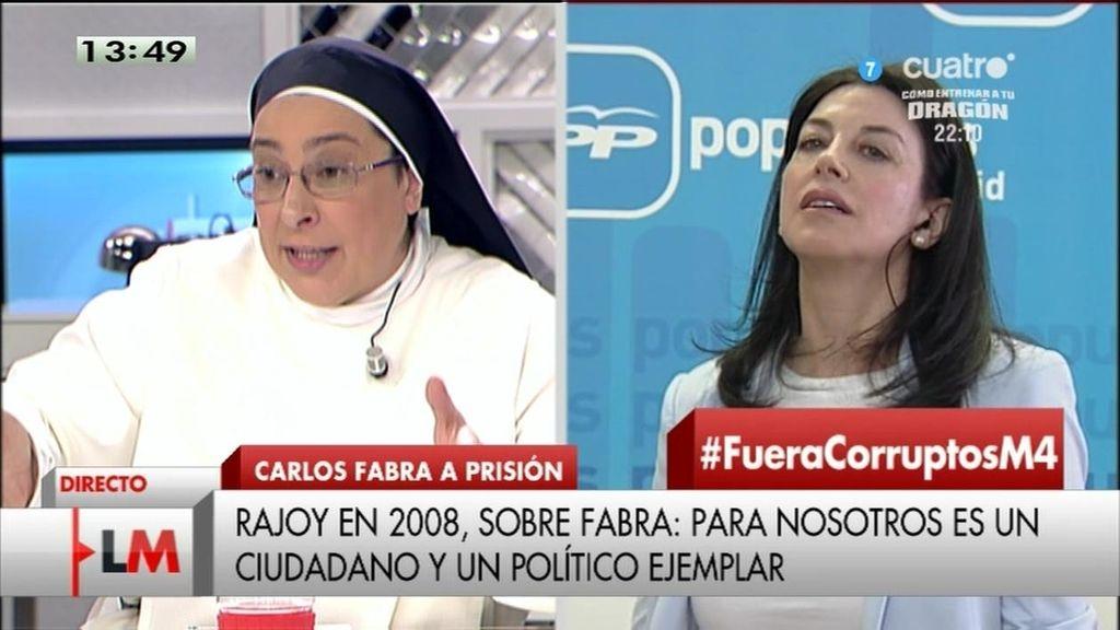 "Sor Lucía, a Arenales Serrano: ""Estoy cansada de que nos mientan"""