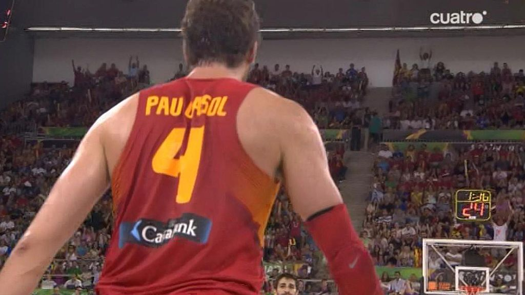 Pau Gasol levanta el Municipal de Granada con 14 puntos en el primer tiempo