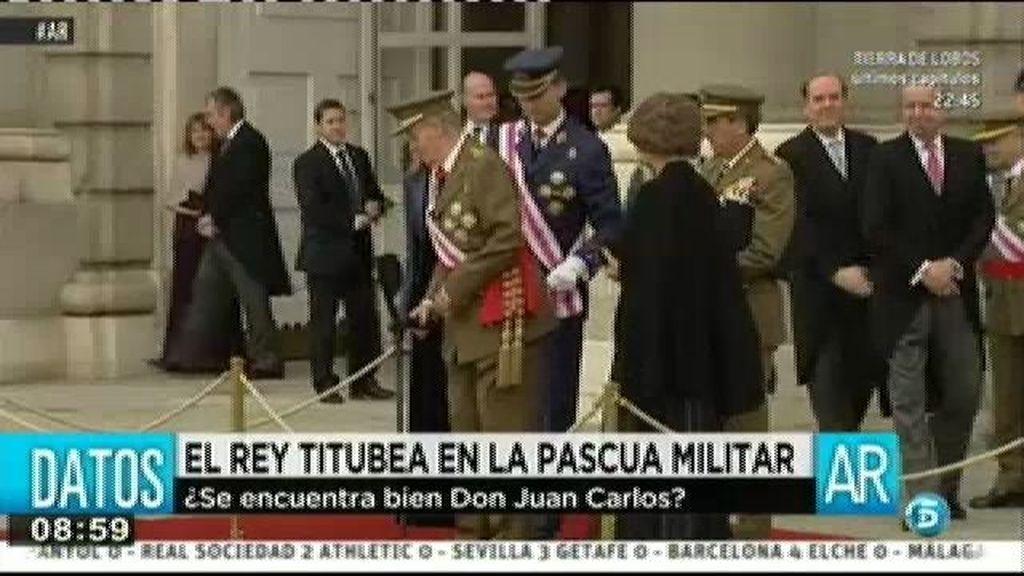 El Rey titubea en la pascua militar
