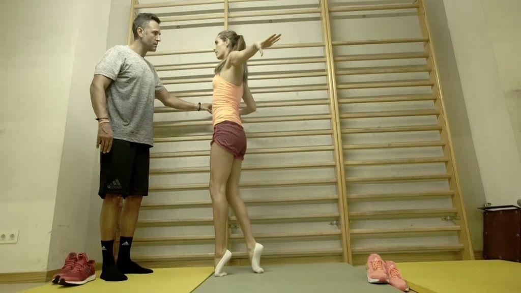 Rafa Lomana prueba la dureza y el dolor físico de un entrenamiento con Ona