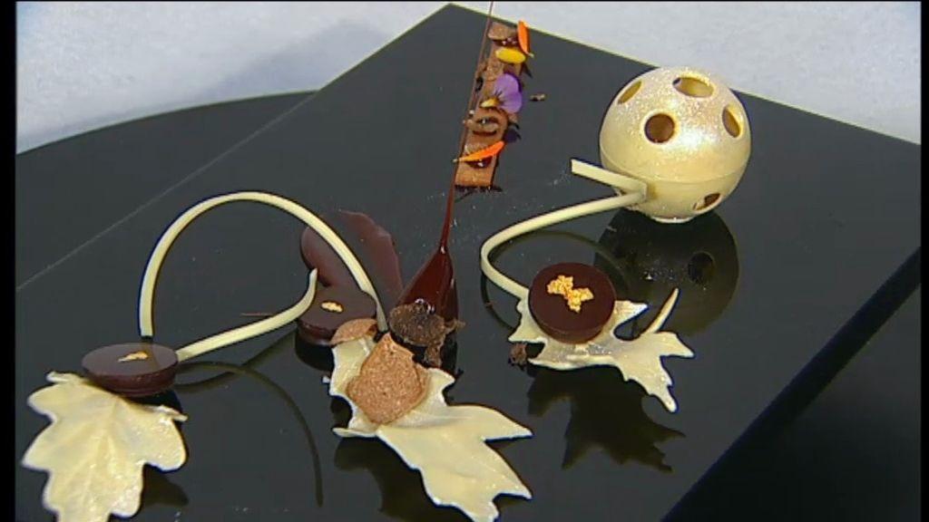 La clase magistral de Torreblanca: ganaché de trufa y crema de castaña