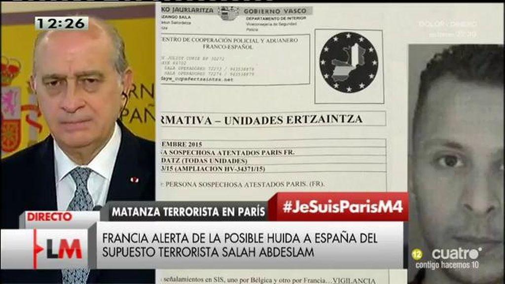 """Fernández Díaz: """"Hay un riesgo elevado de que se pueda producir un atentado terrorista"""""""