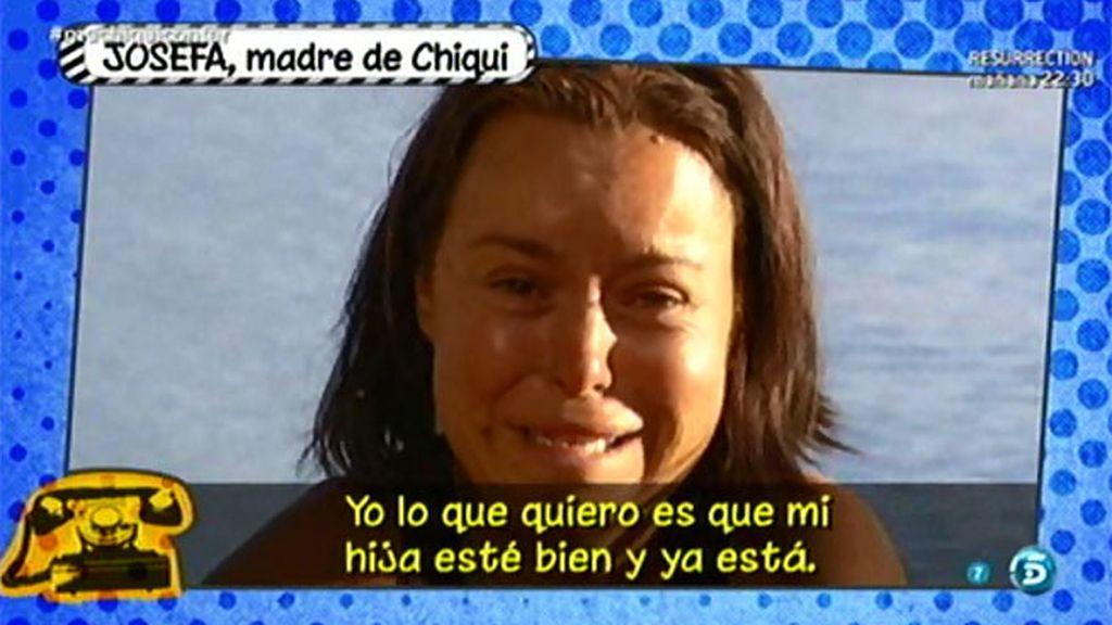 """A Josefa, la madre de Chiqui, no le importa nada: """"Me tiene sin cuidado lo que digan"""""""