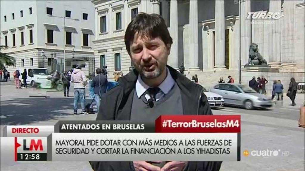 """Rafael Mayoral: """"Los terroristas quieren acabar con los derechos y libertades y ahí no podemos dar un paso atrás"""""""