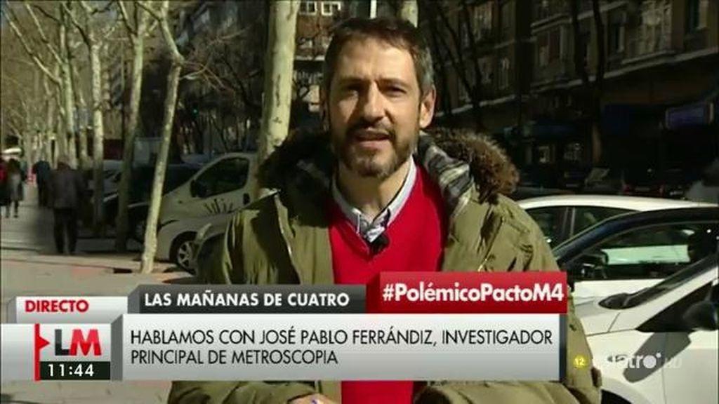 """José Pablo Ferrándiz (Metroscopia): """"La mitad de votantes de PP y Podemos creen que sus partidos deben propiciar esta investidura"""""""