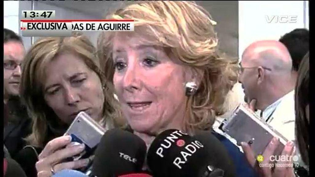 Cristina Cifuentes podría cortar el grifo de privilegios a Esperanza Aguirre