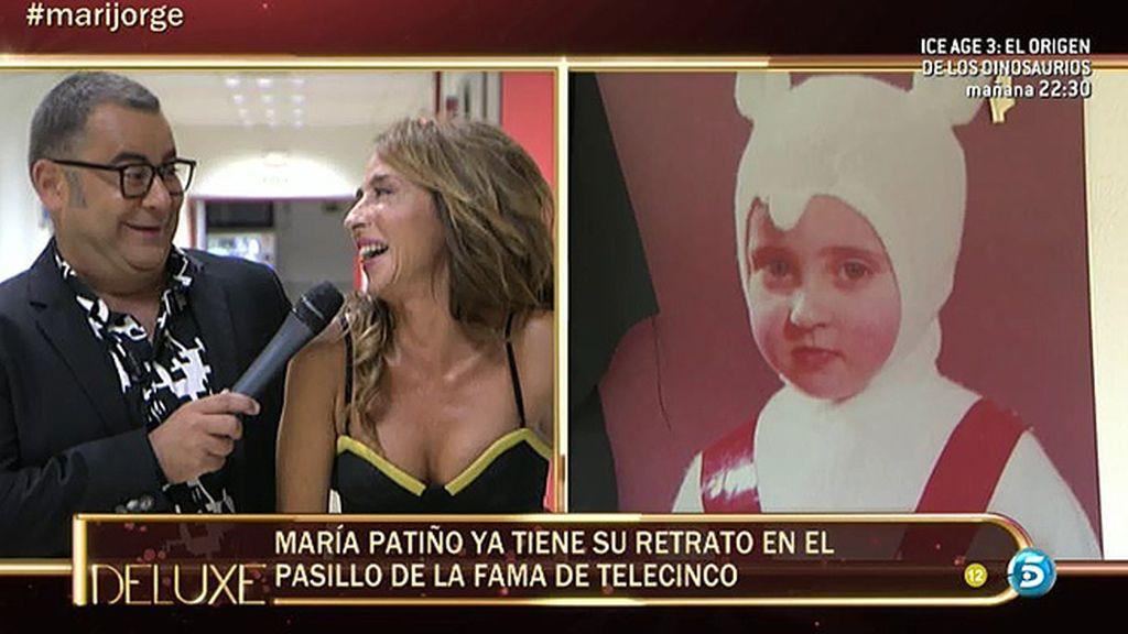 María Patiño ya tiene su foto en el paseo de la fama de Telecinco